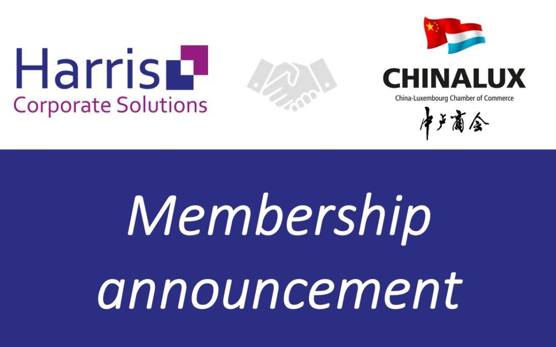 Harris devient membre de la Chambre de Commerce ChinaLux